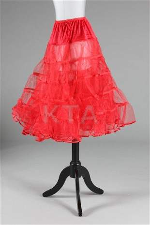 Two boxes of nylon 50s-style petticoats, various