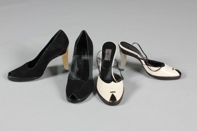 A general group of shoes, 1950s-90s, nine pairs