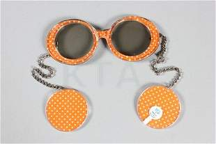 Six pairs of JE-DOL 1960s novelty sunglasses, with