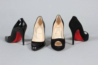 Eleven pairs of designer evening shoes, mainly early