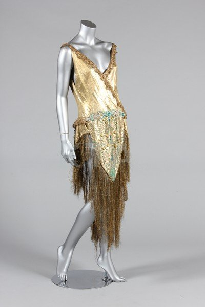 A beaded cloth of gold dance/cabaret outfit, 1920s, the