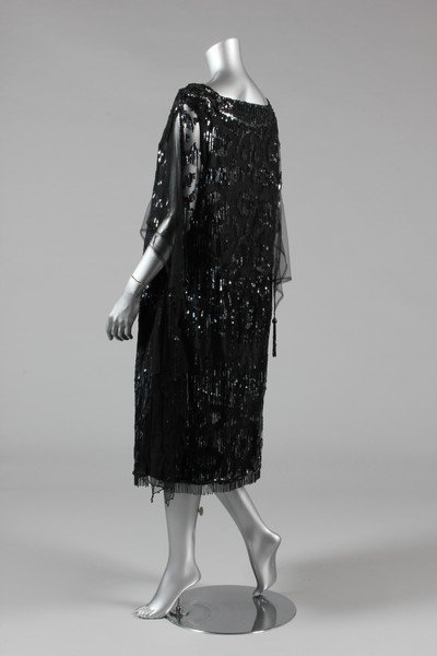 A sequinned black tulle tabard dress, early 1920s, the - 3