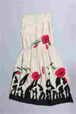 Damaged cocktail dresses, mainly beaded or embroidered,