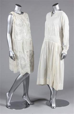 A group of summery clothing, 1920s and early 30s,