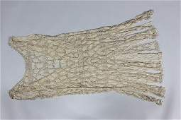 A poor condition couture beaded chiffon flapper dress