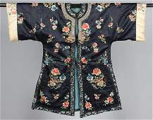 Five embroidered ladies' informal robes, Chinese, late