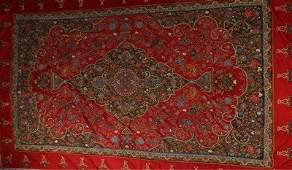 A large and fine Resht panel, Persian, circa 1860, with