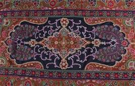 A Resht panel, Persian, circa 1860, the black central