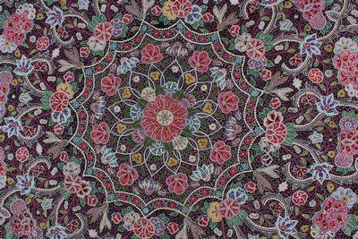 A large and fine circular Resht cover, Persian, circa