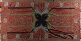 A woven kashmir shawl, Indian, circa 1860, with black