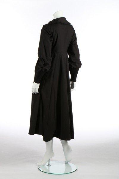 A Yohji Yamamoto black calico smock dress, probably - 2