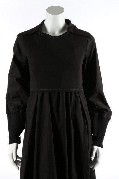 A Yohji Yamamoto black calico smock dress, probably - 3