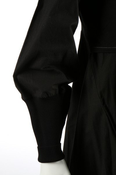 A Yohji Yamamoto black calico smock dress, probably - 4