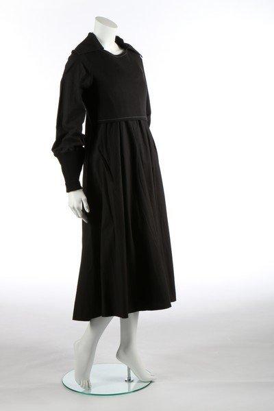 A Yohji Yamamoto black calico smock dress, probably - 6