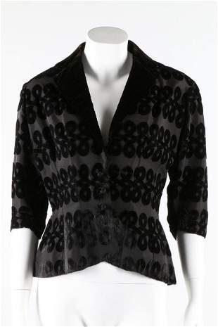 A Maggy Rouff couture cut velvet jacket, late 1940s.