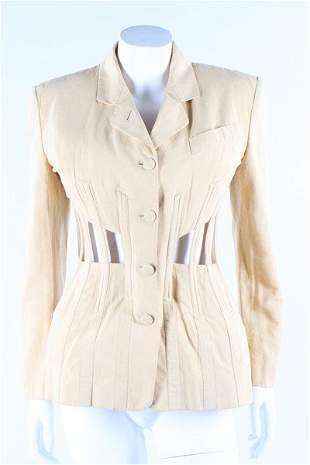 A Jean Paul Gaultier cotton 'cage' jacket,