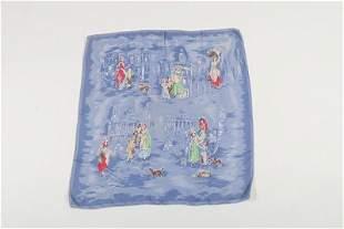 A Zika Ascher printed silk headscarf 'Cries of London',