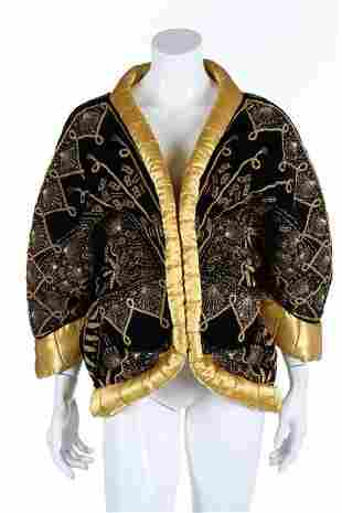 A fine Zandra Rhodes Shell patterned quilted jacket,