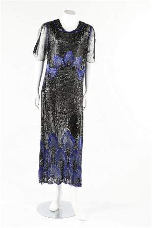 A sequined tulle flapper dress, early 1920s. ankle