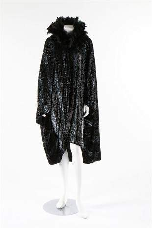 A dramatic sequined bat-wing opera cape, 1920s. the