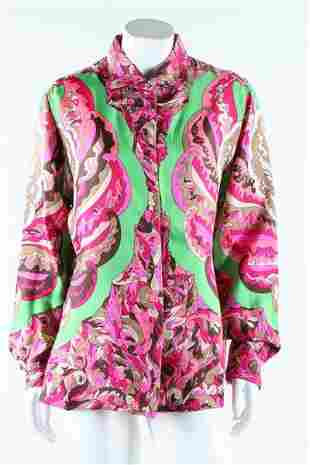 Two Pucci printed silk blouses, late 1960s. labelled,