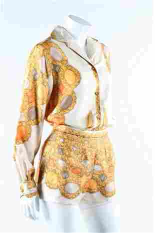 A Pucci printed silk blouse and matching shorts, 1960s.
