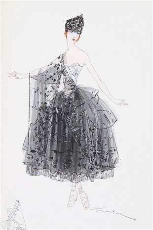 Lucile fashion sketches, circa 1916. comprising: black