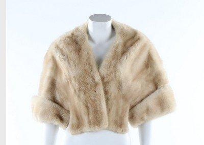 A Nistler of Vienna champagne-mink bolero jacket,
