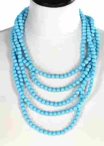 A Coppola e Toppo (1946-1986) turquoise bead