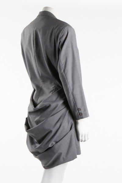 A Yohji Yamamoto fine grey wool tuxedo jacket with