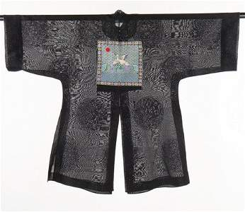 A summer gauze surcoat with civil rank badge, Chinese,