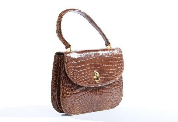 A Gucci brown crocodile handbag, 1960s, crocodylus - 2