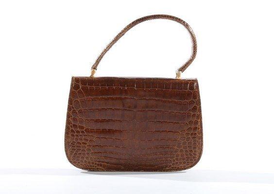 A Gucci brown crocodile handbag, 1960s, crocodylus - 3