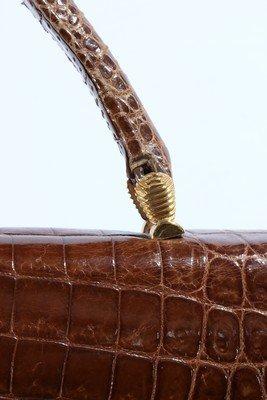 A Gucci brown crocodile handbag, 1960s, crocodylus - 4