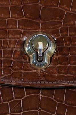 A Gucci brown crocodile handbag, 1960s, crocodylus - 5