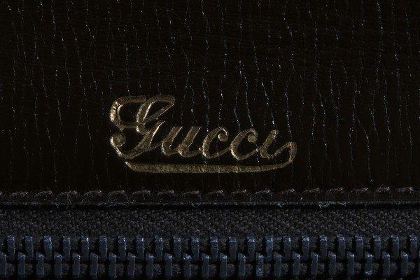 A Gucci brown crocodile handbag, 1960s, crocodylus - 8