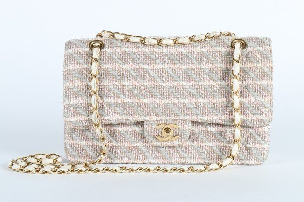 A matching Chanel tweed double flap bag, 2003, stamped