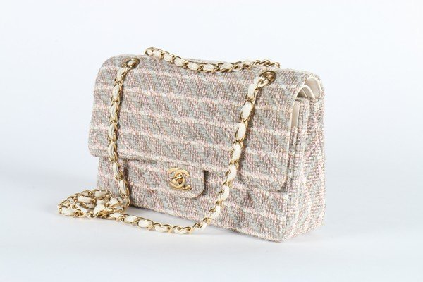 A matching Chanel tweed double flap bag, 2003, stamped - 3