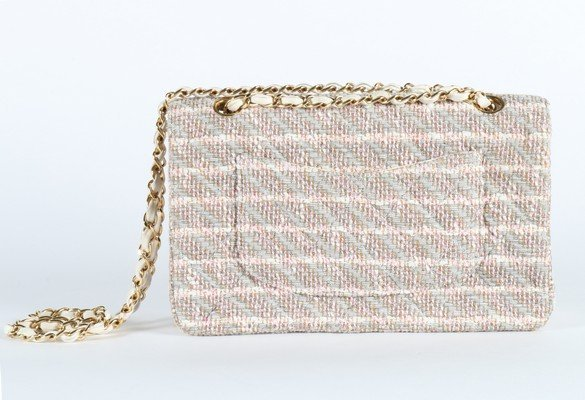 A matching Chanel tweed double flap bag, 2003, stamped - 4