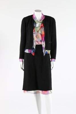 A Chanel wool and printed silk ensemble, 2000,