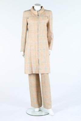 A Chanel tweed ensemble, 2001, labelled, the beige