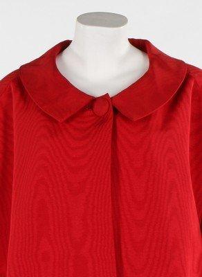 A Lanvin-Castillo red moire ottoman silk swing jacket, - 4