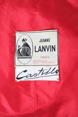 A Lanvin-Castillo red moire ottoman silk swing jacket, - 5