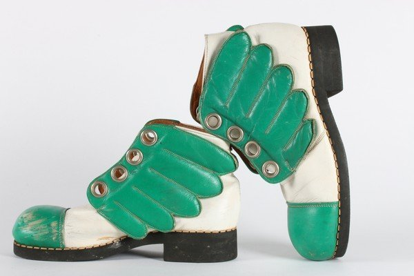 A rare pair of Mr Freedom winged boots, designed by Jim