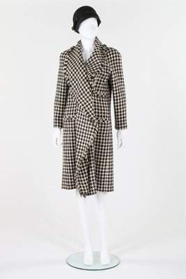 A Chanel boutique black and white hound's tooth checked