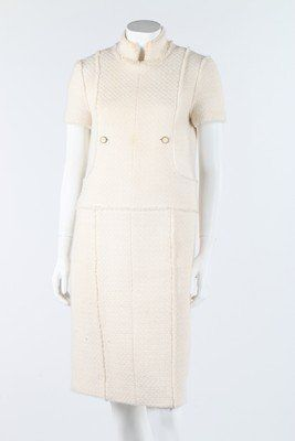 A Chanel cream tweed dress and matching coat, 2004,