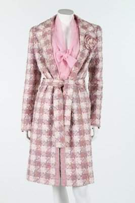 A Chanel pink and ivory checked tweed ensemble, 2004,