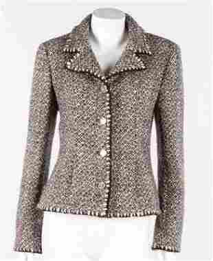 A Chanel flecked brown tweed jacket, circa 2000,