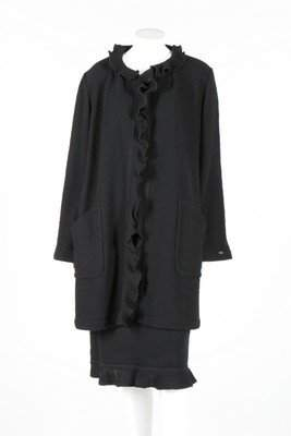 A Chanel black tweed suit, 1999, boutique labelled and
