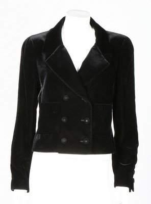 A Chanel black velvet evening jacket, 1998, labelled